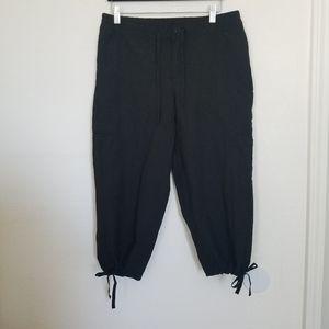 Danskin Black Nylon Cargo Pants